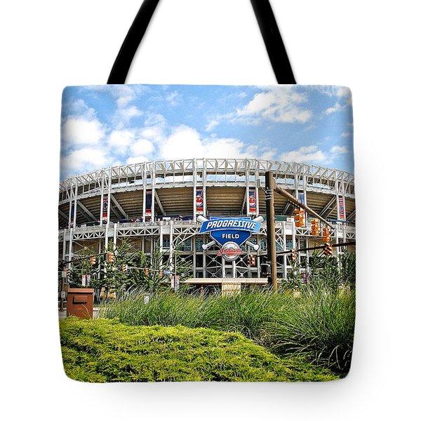 Progressive Field Tote Bag by Frozen in Time Fine Art Photography