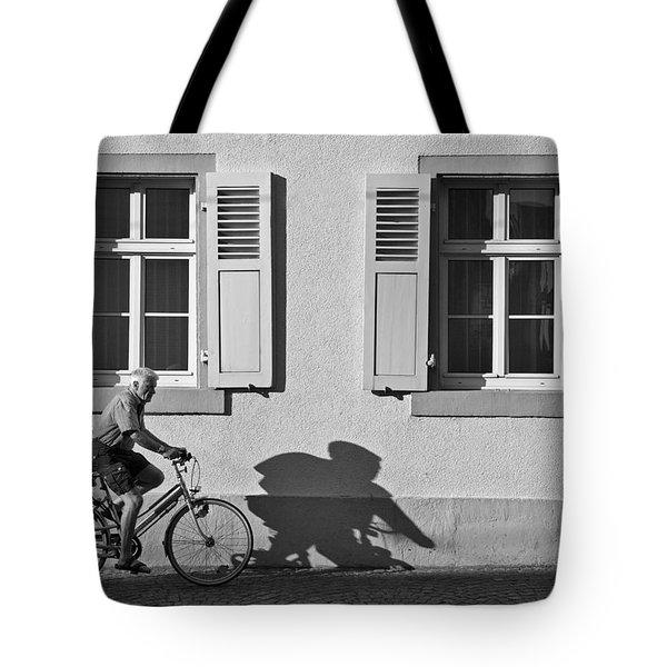 Promenade Of A Shadow Tote Bag by Jean-Pierre Ducondi