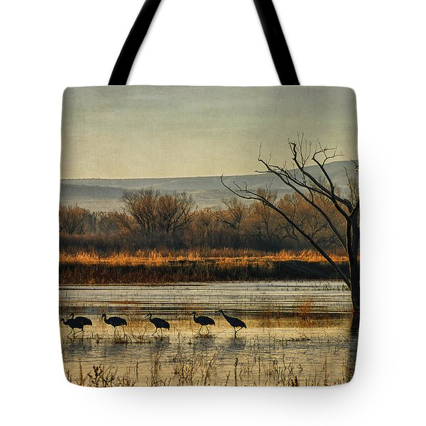 Promenade Of The Cranes Tote Bag