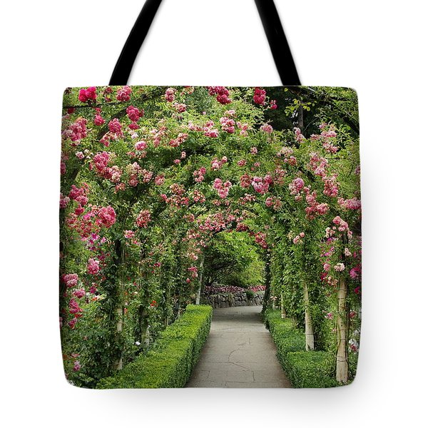 Tote Bag featuring the photograph Rose Promenade   by Natalie Ortiz