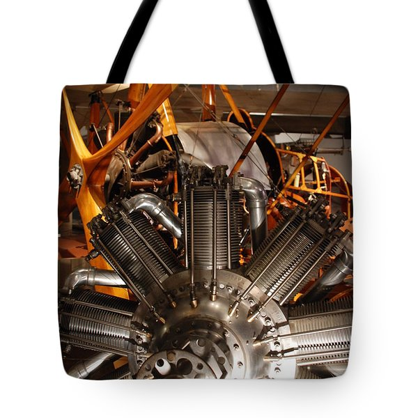 Prop Plane Engine Illuminated Tote Bag