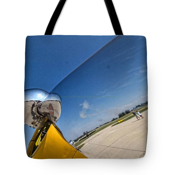 Propeller Reflection Tote Bag by Daniel Sheldon