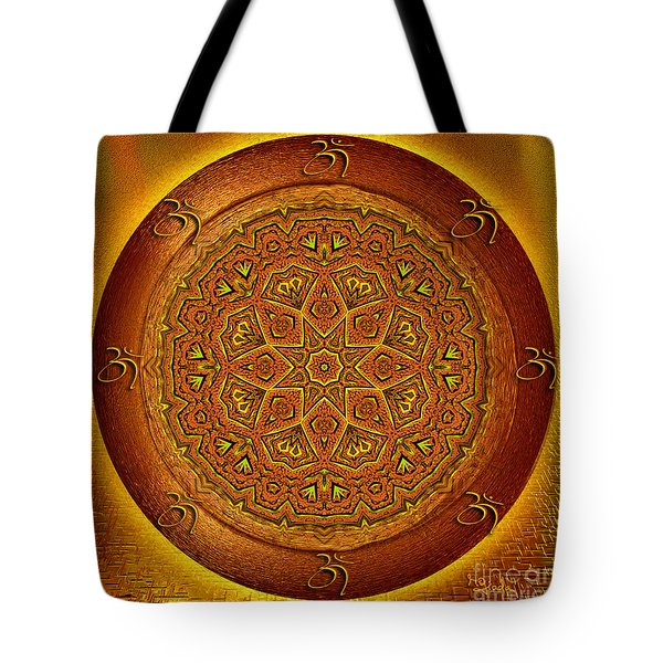 Tote Bag featuring the digital art Prosperity Mandala - Mandala Art  By Giada Rossi by Giada Rossi
