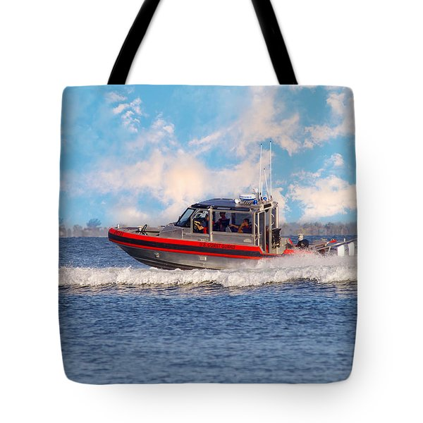Protecting Our Waters - Coast Guard Tote Bag