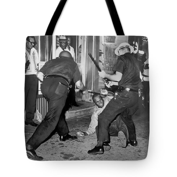 Protester Clubbed In Harlem Tote Bag by Underwood Archives