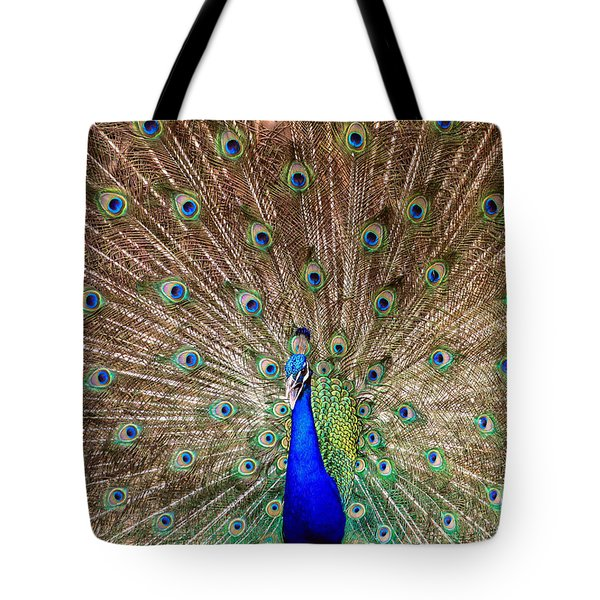 Tote Bag featuring the photograph Proud Peacock by Geraldine DeBoer