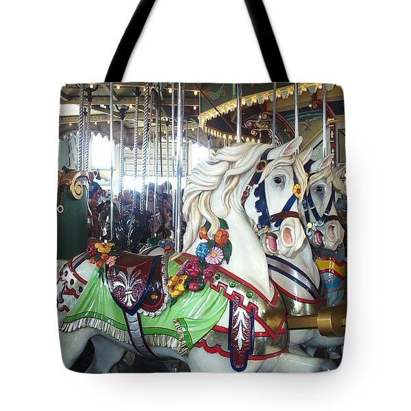Tote Bag featuring the photograph Proud Prancing Ponies by Barbara McDevitt