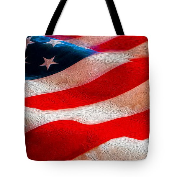 Proud To Be American Tote Bag by Jon Neidert
