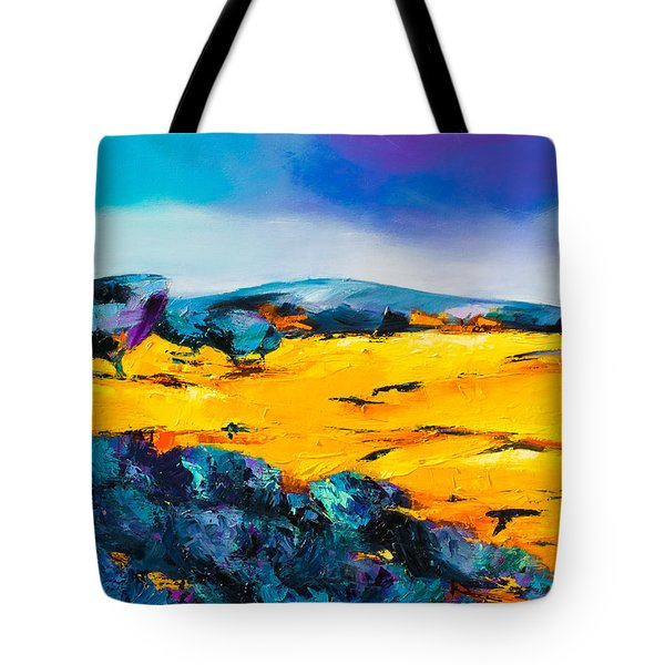 Tote Bag featuring the painting Provence Colors by Elise Palmigiani