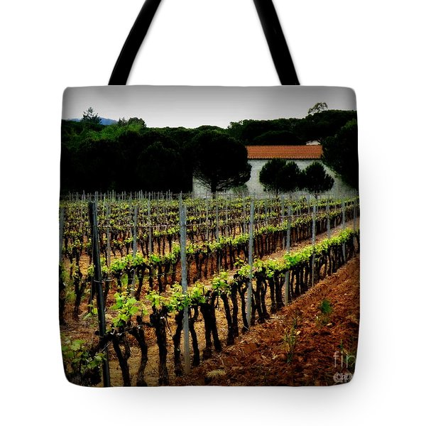 Provence Vineyard Tote Bag by Lainie Wrightson