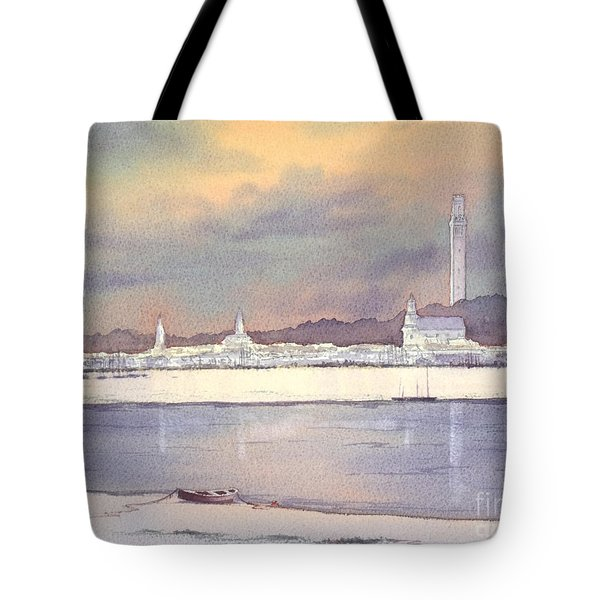 Provincetown Evening Lights Tote Bag
