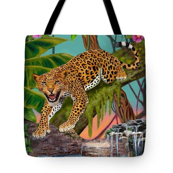 Prowling Leopard Tote Bag by Glenn Holbrook