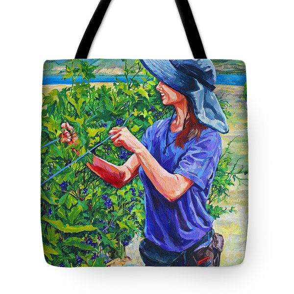 Pruning The Pinot Tote Bag by Derrick Higgins