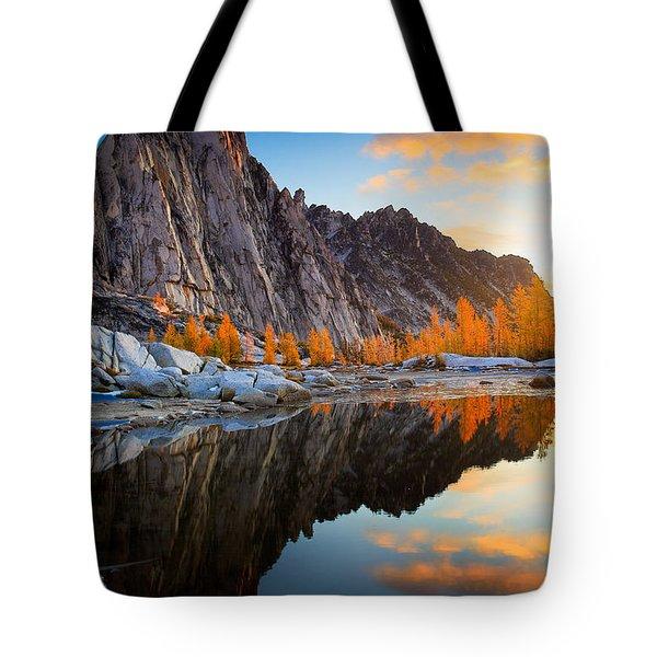 Prusik Reflection Tote Bag by Inge Johnsson