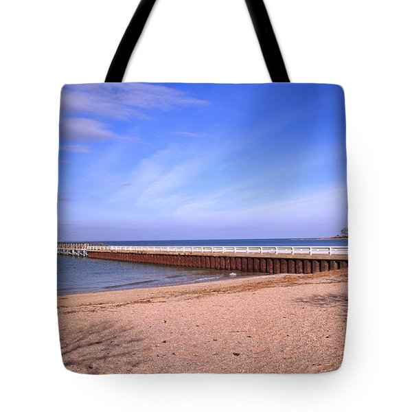Prybil Beach Pier Tote Bag