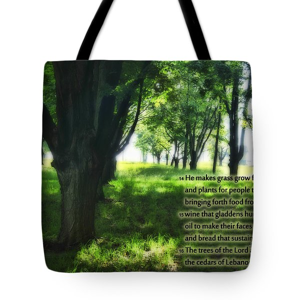 Psalm 104 Tote Bag