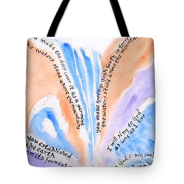 Psalm 104 Tote Bag by Linda Feinberg