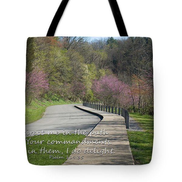 Psalm 119 Direct Me In The Path Tote Bag