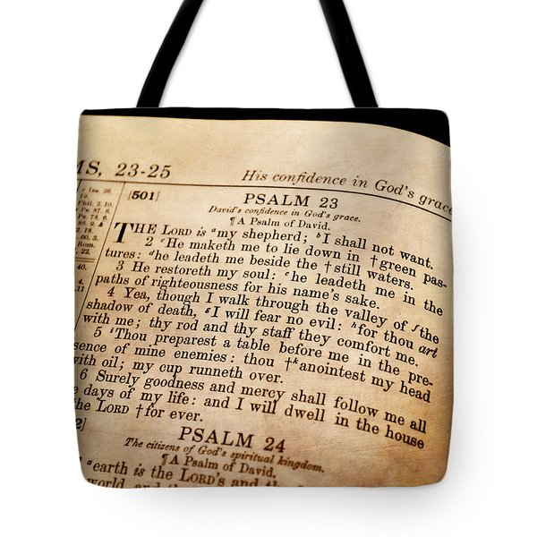 Psalm 23 - The Lord Is My Shepherd Tote Bag by Deena Stoddard