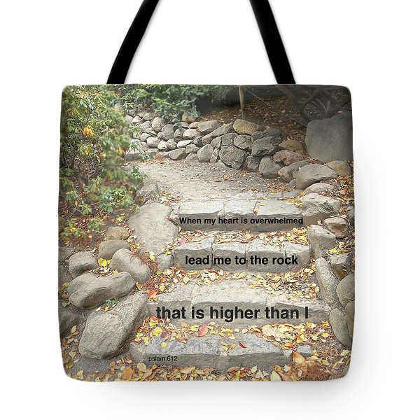 Tote Bag featuring the photograph Psalm 61 2 by Joan Reese