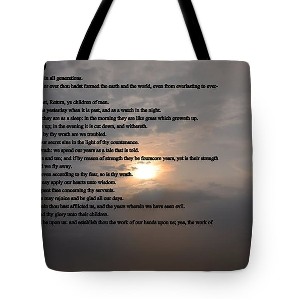 Psalm 90 Tote Bag by Bill Cannon