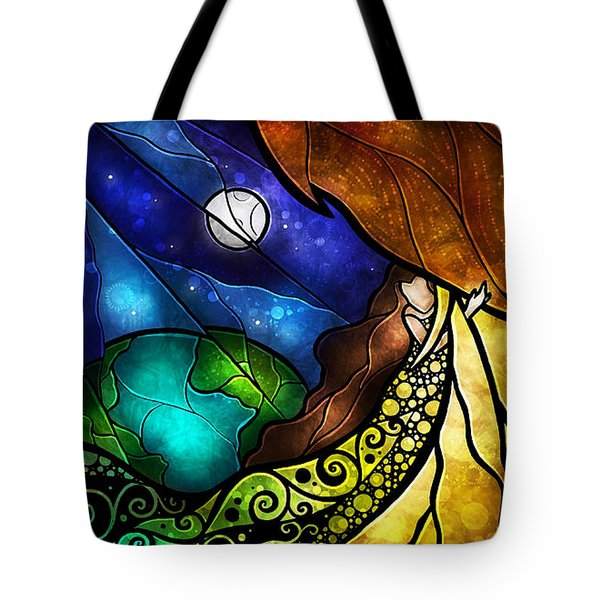 Psalm 91-4 Tote Bag by Mandie Manzano