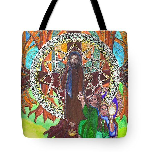 Psalm Fourty Nine Tote Bag by Hidden  Mountain