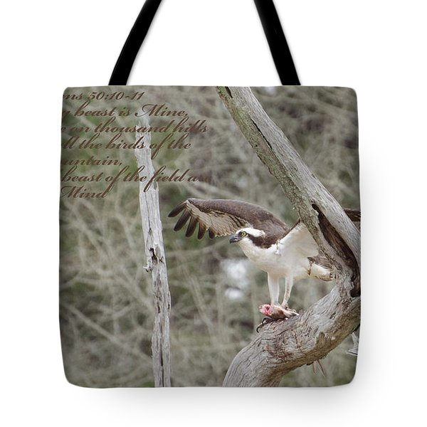 Psalms 50  10 Tote Bag