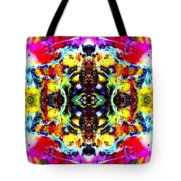 Psychedelic Abstraction Tote Bag