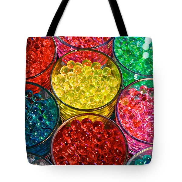 Psychedelic Beads Tote Bag by Frozen in Time Fine Art Photography