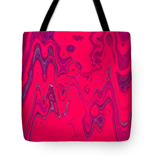 Psychedelic Tote Bag by DigiArt Diaries by Vicky B Fuller