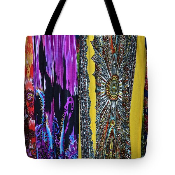 Psychedelic Dresses Tote Bag by Frozen in Time Fine Art Photography