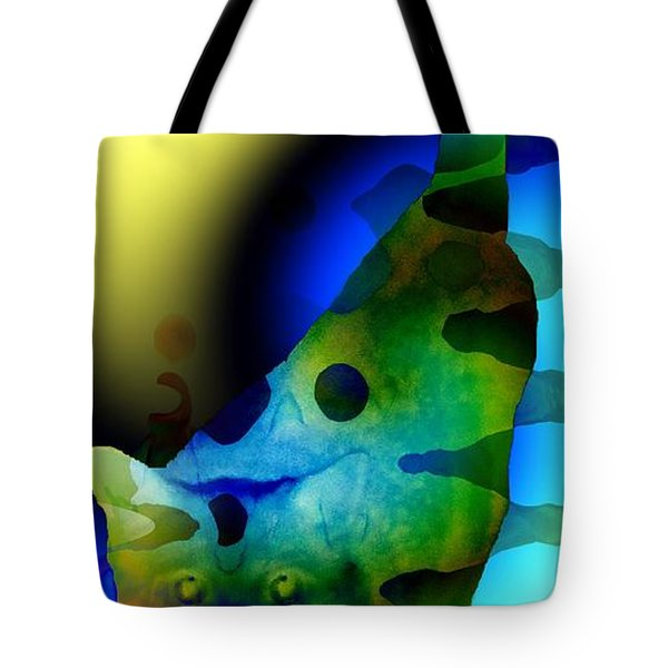 Psychedelic Kitty Tote Bag by Elizabeth McTaggart