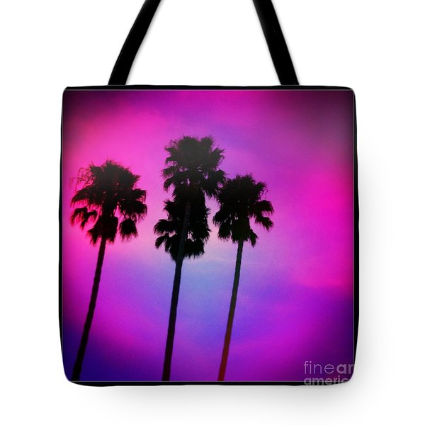 Psychedelic Palms Tote Bag