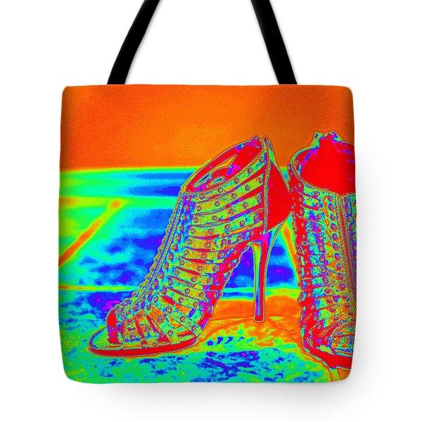 Psychedelic Stilettos Tote Bag