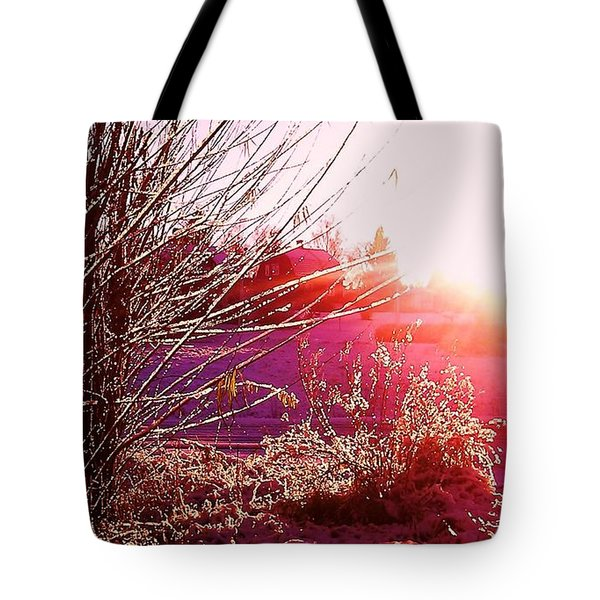 Tote Bag featuring the photograph Psychedelic Winter   by Martin Howard