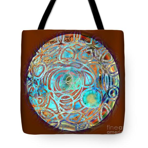 Psychodelic Plate Tote Bag by Gabrielle Schertz