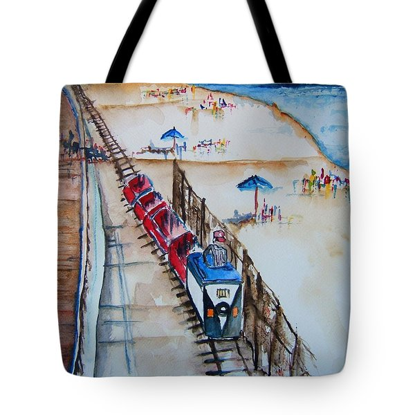 Pt Pleasant Nj Sand Train Tote Bag
