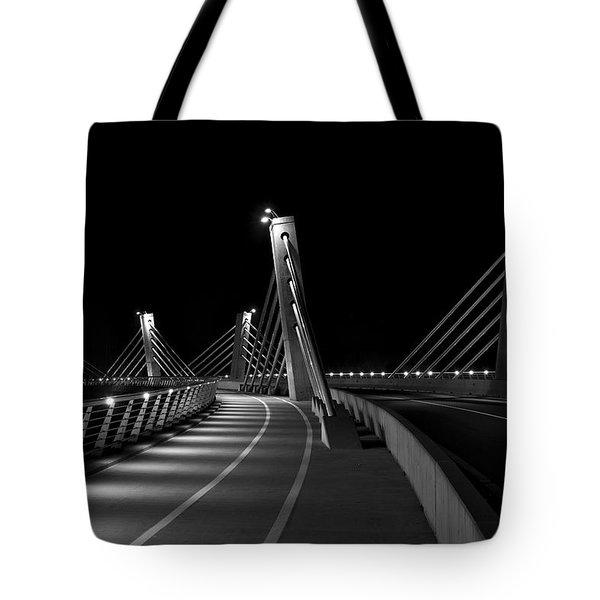 Ptuj Bridge Bw Tote Bag