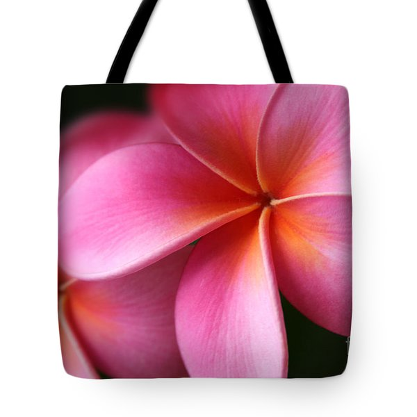 Pua Lei Aloha Cherished Blossom Pink Tropical Plumeria Hina Ma Lai Lena O Hawaii Tote Bag