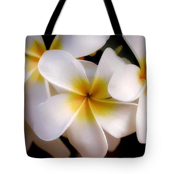 Pua Melia Ke'oke'o Tote Bag