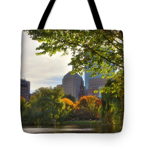 Public Garden Skyline Tote Bag by Joann Vitali