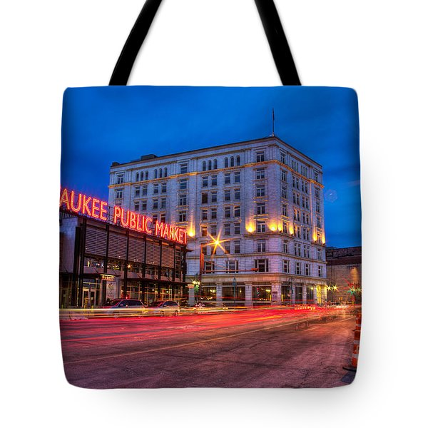 Public Market Zip Tote Bag