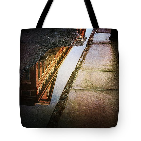 Tote Bag featuring the photograph Puddles Of The Past by Heather Green