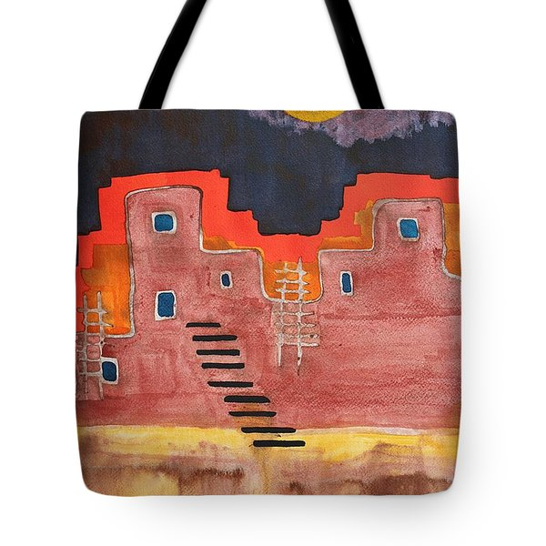 Pueblito Original Painting Tote Bag