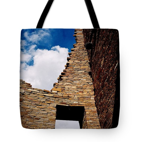 Tote Bag featuring the photograph Pueblo Bonito New Mexico by Jacqueline M Lewis