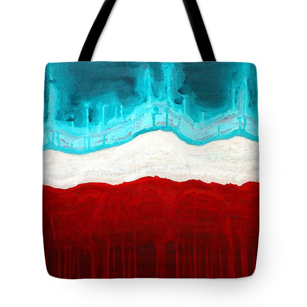 Pueblo Cemetery Original Painting Tote Bag