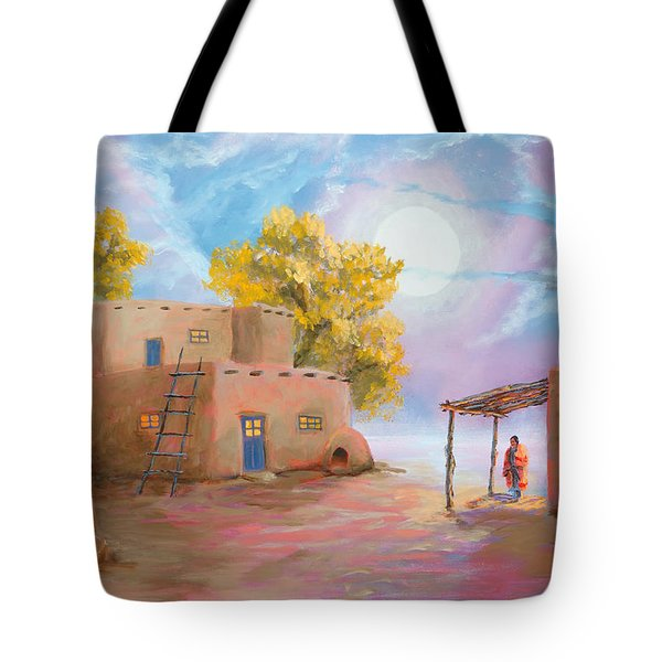 Pueblo De Las Lunas Tote Bag by Jerry McElroy