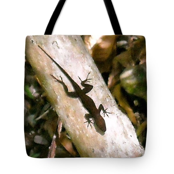 Tote Bag featuring the photograph Puerto Rico Lizard by Daniel Sheldon