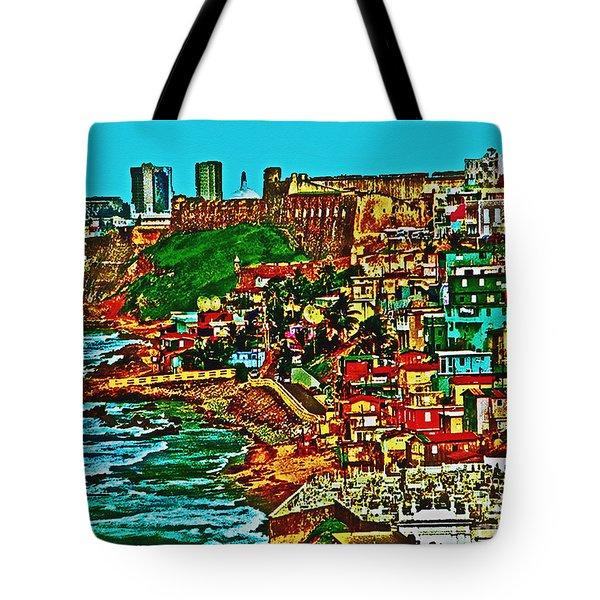 Old San Juan Puerto Rico Walled City Tote Bag